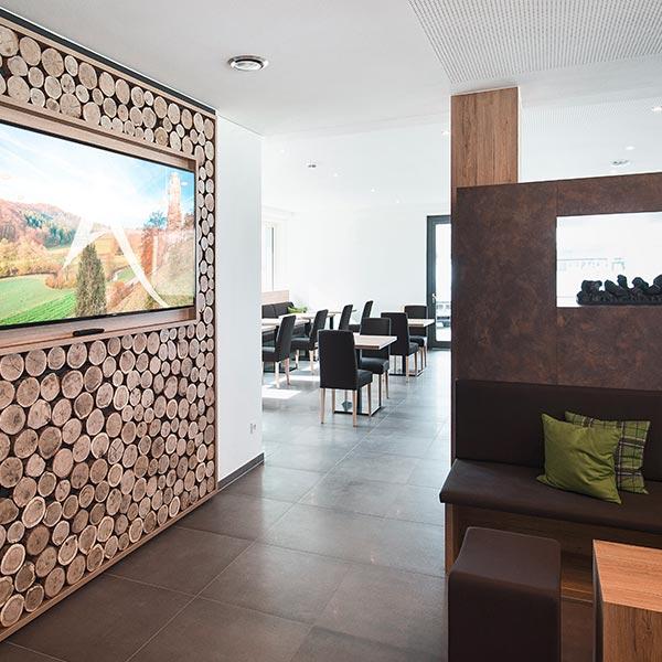 Frühstücksbereich und Lounge
